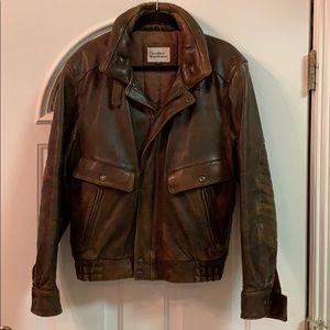 {The Leather Warehouse}Mens Sz 42Brown BomberJkt